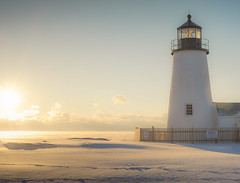 Quintessential Maine - After the snow... (jm atkinson) Tags: lighthouse pemaquid atlantic ocean peninsula maine