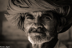 Rajasthani old man (karmajigme) Tags: old man human rajasthan india travel monochrome blackandwhite noiretblanc nikon