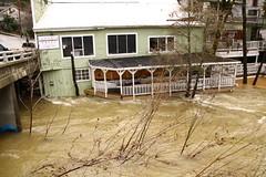 in Nevada City, CA (qorp38) Tags: water high flood creek rain
