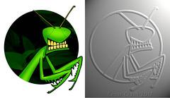 Example (Cesar Crash) Tags: mantis praying insect engraving