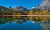 Wedge Pond perfection (virgil martin) Tags: wedgepond thewedge mountains lake pond reflection kananskis alberta canada panasoniclumixfz1000 oloneo gimp