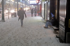 New Year's Eve Reality (Sherlock77 (James)) Tags: calgary downtown stephenavenue streetphotography winter snow people man homeless panhandler
