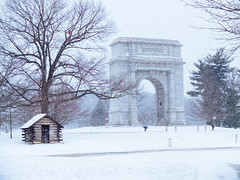 National Memorial Arch (Garen M.) Tags: harsh bicycle ride cabins fujifilmx20 cyclocross bike weather valleyforge snow