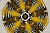 Winter Sun (Kombizz) Tags: 234 kombizz kaleidoscope experimentalart experimentalphotoart photoart epa samsung samsunggalaxy fx abstract pattern art artwork snapart wintersun yellow honey black white geometrical