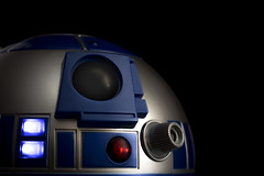 The real saviour of the Galaxy (cheekeemonkeez) Tags: star wars r2d2 c3po jedi light saber droid robot low key sony a58