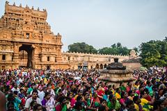 Spiritual crowd for pradhosham @ Brihadeeswarar Temple,Thanjavur (vjisin) Tags: architecture chola india asia tamilnadu unesco worldheritagesite culture choladynasty incredibleindia tamil civilisation outdoor shadows light people cholaarchitecture brihadeeswarar temple faith hinduism travel travelphotography