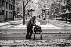 walker (jeff_tidwell) Tags: street streetphotography streetphoto candid snow winter walker homeless blackandwhite bw