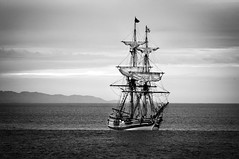 Ahoy Matey (tmors) Tags: boat dark dusk gloomy ocean old pacific pirateship sailboat scary ship