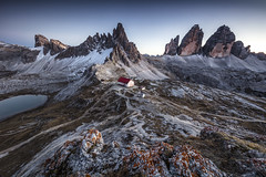 Tre Cime Di Lavaredo (Frederic Huber | Photography) Tags: 1124 1635 2470 70200 landschaft canoneos5dsr eos fotodiox frederichuber freearc landscape photography wonderpana wwwfrederichubercom tre cime di lavaredo dolomites italia italy dolomiten dreamscape frederic huber long exposure langzeitbelichtung le blue hour blaue stunde blau himmel sky sunset sonnenuntergang sunrise sonnenaufgang drei zinnen red rot 2016 rock alps alpen alm mountains berge hory hütte dreizinnenhütte lake see bergsee peak peaks trentino alto adige innichen wow explore explored