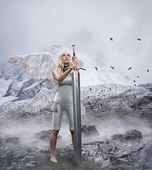 Claymore (Mei Chan Photo) Tags: claymore anime cosplay photomanipulation sword mountain