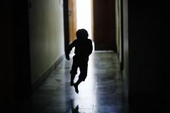 The Floating Child (N A Y E E M) Tags: umar kalam son silhouette jump run night corridor home rabiarahmanlane chittagong bangladesh availablelight indoors light lulu