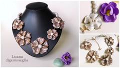 Mosaic floral necklace (Luana Sgammeglia) Tags: fiori floral necklace collana colgante collieur pastapolimerica fimo polymerclay arcillapolimerica premo sculpey fashion accessori moda stile girl girlish style