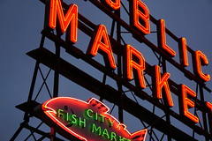 Seattle Neon (Let Ideas Compete) Tags: sign neon seattle fishmarket market publicmarket pikeplacemarket