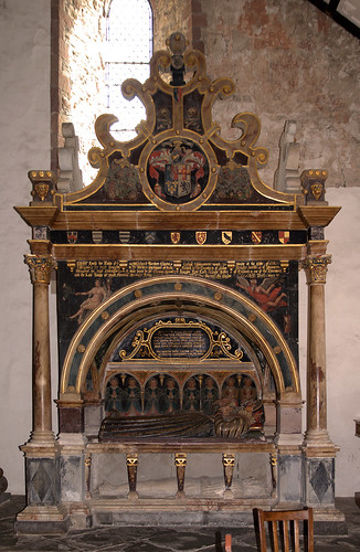 Montgomery, Powys, St. Nicholas's Parish Church, monument to Richard Herbert †1596