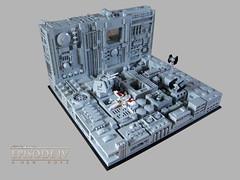 Übersicht (KW_Vauban) Tags: starwars lego episodeiv anewhope deathstar trench microspacetopia