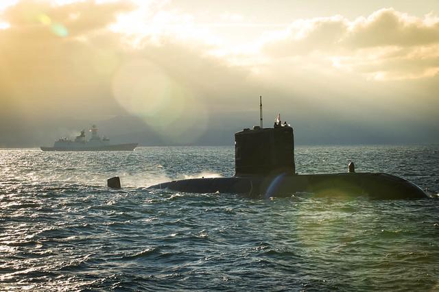 Sun Rays on HMCS Chicoutimi