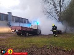 Pożar samochodu dostawczego 7