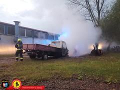 Pożar samochodu dostawczego 8