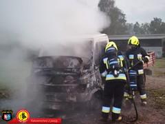 Pożar samochodu dostawczego 1