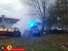 Pożar samochodu dostawczego 9
