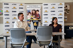 Heinrich meets with CNM's Early Childhood Education Department