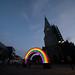 Regnbue på Torvet