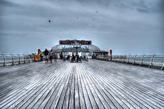 Cromer Pier in HDR (mjsearle121) Tags: england holiday beach coast pier town sand norfolk processed hdr cromer 2015 tonemapped photomatixpro