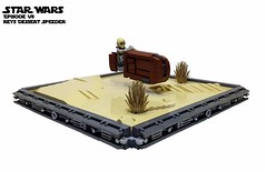 EPVII - Rey`s Desert Speeder (markus19840420) Tags: dessert starwars force lego rey speeder the moc awakens episodevii markus1984 noris4con