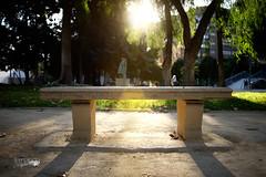 banco (Fernando Crego) Tags: park parque sunset bench atardecer banco murcia x100t