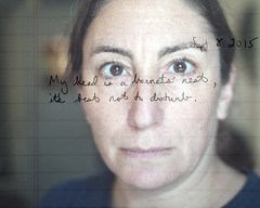 251.365 (sadandbeautiful (Sarah)) Tags: woman selfportrait me composite female writing self 365 layered day251 365days 365daysx6