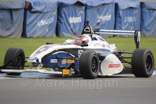 Graham Brunton Racing's Ciaran Haggerty in BRDC F4 at Donington Park, September 2015