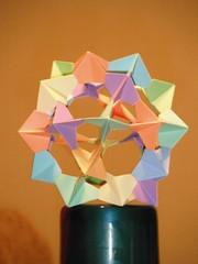 Mbile (Atelier ArthSarah!) Tags: paper casa origami modular japo papel bola tesoura sorte mbile tsuru dobradura longevidade dobras pendurar kudusama