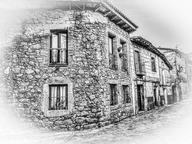 Casas de un pueblo de Castilla