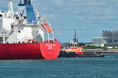 Justice (jelpics) Tags: ocean sea port harbor boat justice ship massachusetts vessel borden tug bostonma tanker tugboats bostonharbor merchantship iverprogress