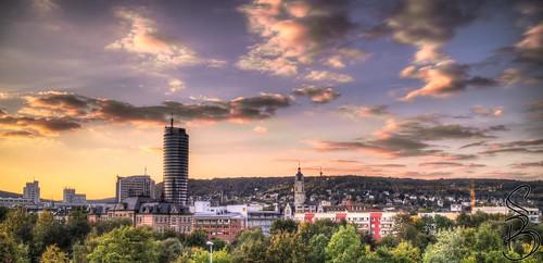 Jeny Skyline at sunset