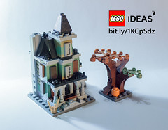 Microscale Haunted House for Lego IDEAS (Frankie Someone) Tags: house halloween monster lego haunted fighters ideas 10228 microscale