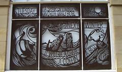 Beachcomber, George MacKay Brown 02 (byronv2) Tags: sculpture art window writing scotland orkney edinburgh poetry scottish books literature poet writer newtown author bard verse edimbourg rosestreet orcadian scottishpoetrylibrary georgemackaybrown cityofliterature astridjaekel edinburghunescocityofliterature