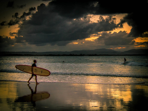 Sunset Surf at the Pass
