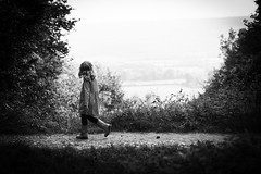 Girl walking in the countryside (craigmdennis) Tags: nature girl walking countryside clearing kentdowns