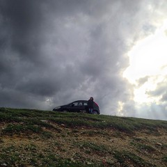 Windy day in Kefken (Murat Ertrk) Tags: cloud car dark square wind windy squareformat blacksea kocaeli pembe kayalar kefken iphoneography instagramapp uploaded:by=instagram