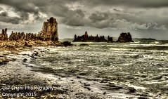 Mono Lake Stormy Waters (Bill Wight CA) Tags: california sky usa mountain lake storm tourism nature water colors composition america landscape outside outdoors mono waves skies unitedstates outdoor body hiking atmosphere stormy nobody photograph mammoth silence northamerica serene recreation sierras monolake sierranevada tufa saline americanwest formations highsierra wildwater sierranevadamountains naturalarea leevining pacificstates monocounty traveldestination naturemanagement billwight availableforlicensing sensitivenaturalareas copyright2015