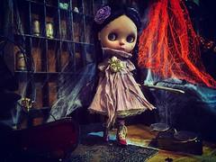 Hello there 🌔 #love #blythe #customblythe #doll #ブライス #カスタムブライス #人形 #halloweenfun