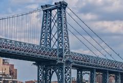 Williamsburg Bridge (chogokinjawa) Tags: newyorkcity bridge urban usa newyork metal brooklyn america nikon manhattan unitedstatesofamerica sigma williamsburgbridge urbanphotography sigmalens nikondslr nikond90 sigma18250mmf3563 summer2014 july2014 sigmamacrohsm