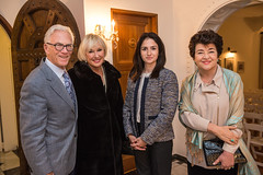 LACO gala event chairs and board member Sandy and Pat Gage, Consul General Raife Gülru Gezer and LACO à la carte chair and board member Mahnaz Newman