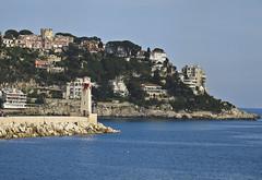 A2217CdAb (preacher43) Tags: sea lighthouse france french coast nice mediterranean riviera yacht cote dazure