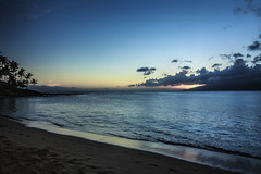The day has gone - Napili bay after sunset (<e.cel8>) Tags: hawaii bay maui molokai napili