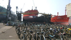 Waiting Bikes (Gunnar Eide) Tags: ship maritime shipping tanker tankers