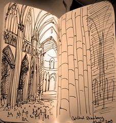 Catedral de Strasbourg (LetsLetsLets) Tags: france architecture sketch arquitectura drawing abril catedral frana dessin strasbourg 2009 desenho estrasburgo letsletslets cathdrale