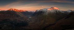 Glen Coe (GenerationX) Tags: winter sunset sky moon snow mountains landscape evening scotland highlands unitedkingdom dusk scottish peak neil calm ridge gb threesisters summit glencoe barr gloaming buttress thechancellor rivercoe aonacheagach mountainridge a82 bideannambian aonachdubh stobcoirenanlochan sgorrnamfiannaidh ambodach antsron canon6d lochachtriochtan creagbhan achnambeithach sgurranfhuarain gleannleacnamuidhe meallmòr mealllighiche aonachdubhaghlinne fionnghlean