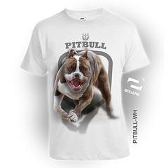 PITBULL-WH (squareteesbdg) Tags: dog square 3d pitbull kaos anjing binatang